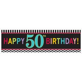 Sign Banner-50th-Plastic-65'' x 20''