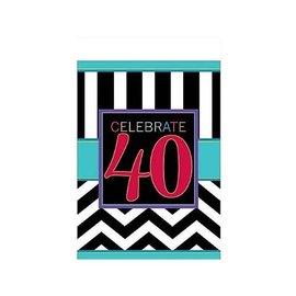 Table Cover- 40th Celebration-Plastic-54'' x 102''