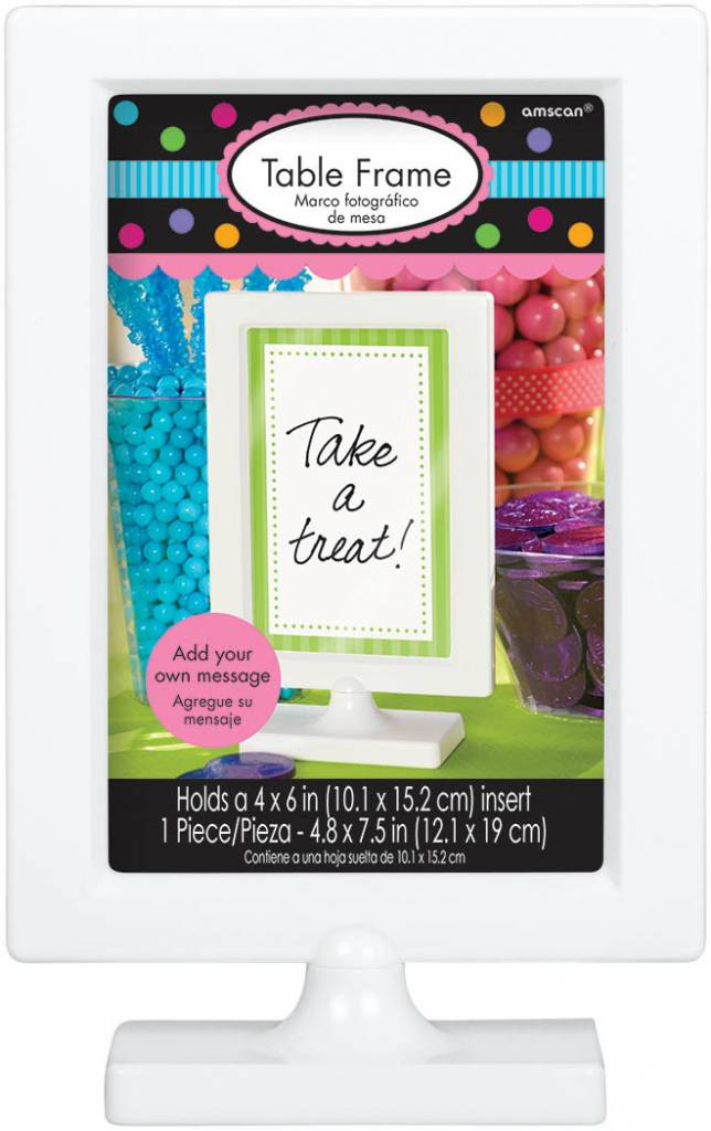 Table Frame-4\'\' x 6\'\'-Plastic - Victoria Party Store