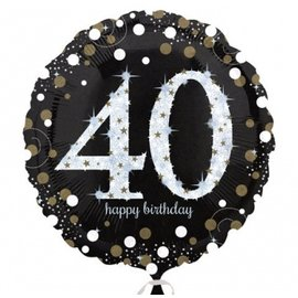 Foil Balloon - 40th Birthday Sparkle - 18""