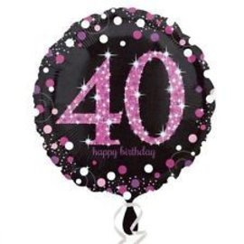 "Foil Balloon - 40 Happy Birthday - 18"""