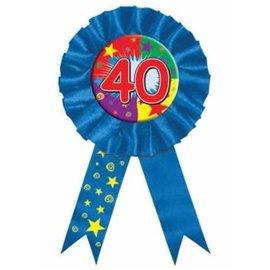"Award Button-40th Birthday-1pkg-6.5"""