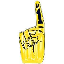 """Inflatable Hand-Yellow Number 1-1pkg-24"""""""