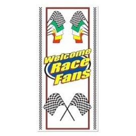 Door Cover-Plastic-Welcome Race Fans-1pkg-5ft