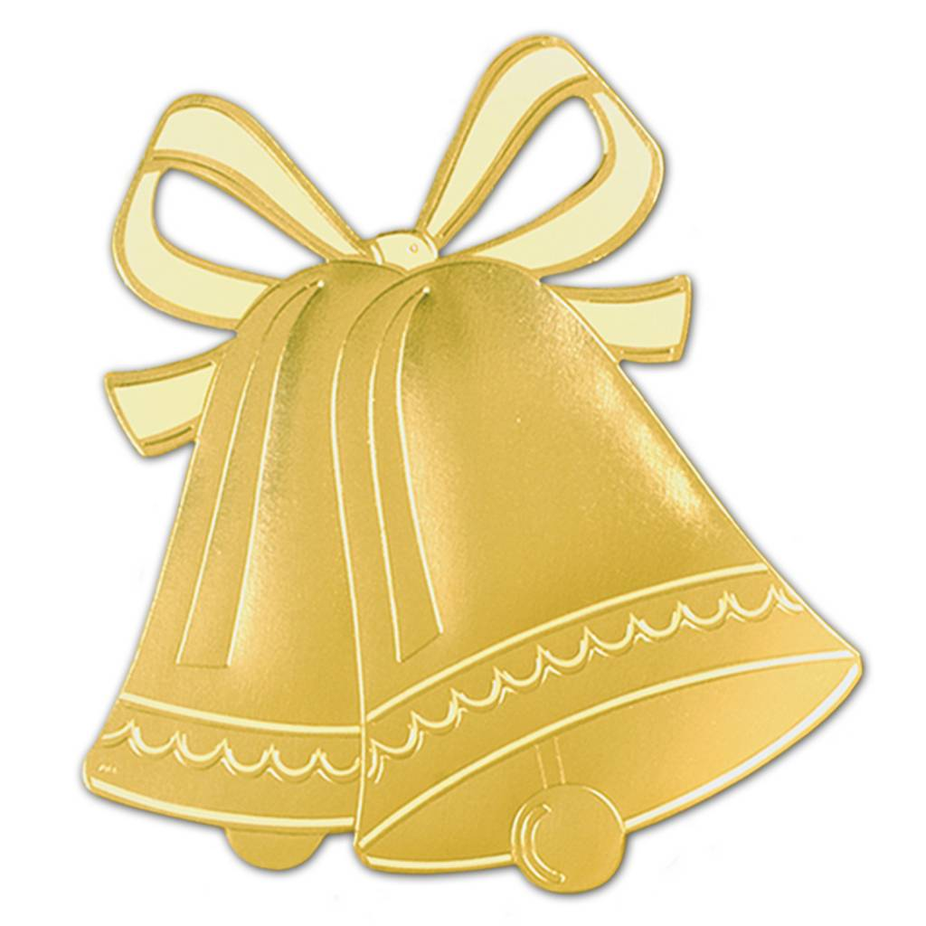 The Wedding Bell | Cutout Gold Wedding Bells Silhouette 1pkg 16 5 Victoria Party Store