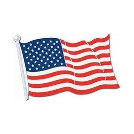 """Cutout-American Flag-1pkg-12.5""""x18"""""""