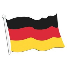 "Cutout-German Flag-1pkg-12.5""x18"""