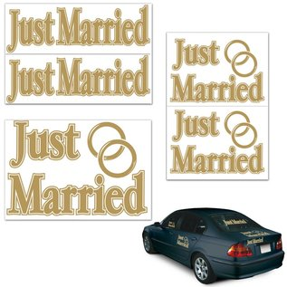 "Auto Clings-Assorted Just Married-5pkg-11""-17"""