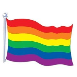 Cutout- Rainbow Flag-18''