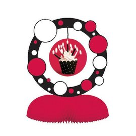 Centerpiece-Honeycomb-Cupcake Blowout Dots-1pkg-11.75""