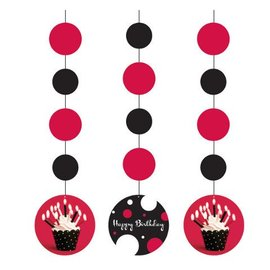Hanging Cutouts-Cupcake Blowout-3pkg-36""
