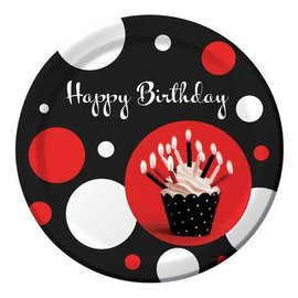 Plates-LN-Cupcake Blowout Dots-8pkg-Paper - Discontinued