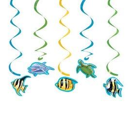 "Danglers-Swirl-Ocean Party-5pkg-19""-25"""