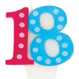 Candle-Bright & Bold 18th Birthday-1pk-3''