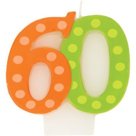 Candle-Bright & Bold 60th Birthday-1pkg