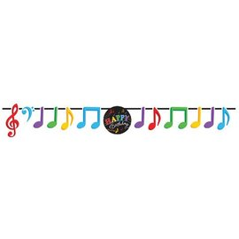 Banner-Ribbon-Dancing Musical Notes-1pkg-5.5ft