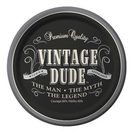 Plates-BEV-Vintage Dude-8pkg-Paper - Discontinued