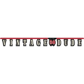 Jointed Banner-Vintage Dude 50th-1pkg-8.75ft