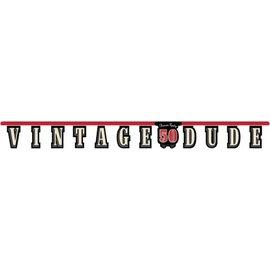 Jointed Banner-Vintage Dude 50th-1pkg-8.75ft