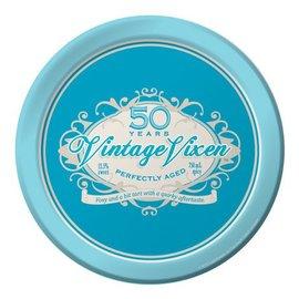 Plates-LN-Vintage Vixen 50th-8pkg-Paper