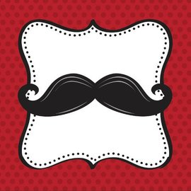 Napkins-BEV-Mustache Madness-16pkg-3ply - Discontinued