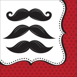 Napkins LN- mustache-16pk-2ply