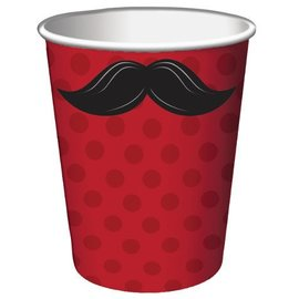 Paper Cups-Mustache Madness-8pkg-9oz - Discontinued