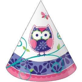 Hats-Cone-Owl Pal-8pkg-Paper