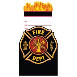 Invitations-Firefighter-8pkg