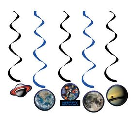 Danglers-Foil Swirl-Space Blast Birthday-5pkg-36""