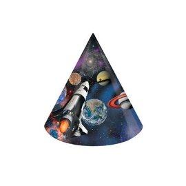 Hats-Cone-Space Blast-8pkg-Paper
