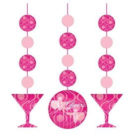 Hanging Cutouts-Fabulous Birthday-3pkg-36""