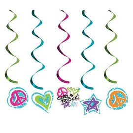 "Danglers-Foil Swirl-Totally 80's-5pkg-19""-25"""