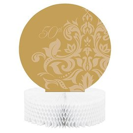 Centerpiece-Honeycomb-Golden 50th Anniversary-1pkg-11.75""