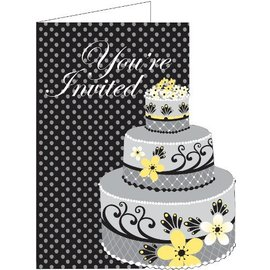 Invitations-Chic Wedding Cake-8pkg