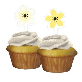 Cupcake Toppers-Chic Wedding Cake-12pkg