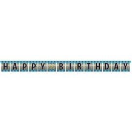 Jointed Banner-Foil-Happy Birthday Pop-1pkg-8.5ft
