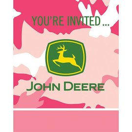 Invitations-John Deer Pink-8pkg