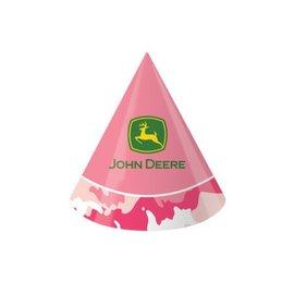 Hats-Cone-Pink John Deere-8pkg-Paper