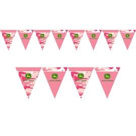 Flag Banner-Plastic-John Deer Pink-1pkg-12ft