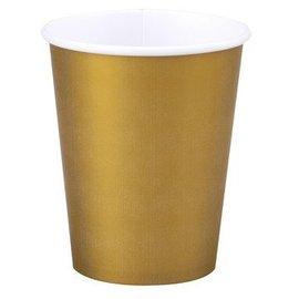 Paper Cups-Glittering Gold-24pkg-9oz