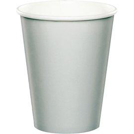 Paper Cups-Shimmering Silver-24pkg-9oz