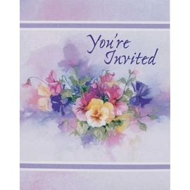 Invitations-Paintbox Pansies-8pk