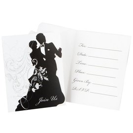 Invitations-Ever After Silhouette-8pkg