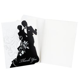 Thank You Cards-Ever After Silhouette-8pkg