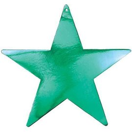 Cutouts-Star-Green-5''-Foil
