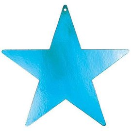 Cutouts-Star-Turquoise-12''-Foil