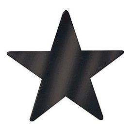 Cutouts-Star-Mini-Black-12pkg-Foil-3.5''