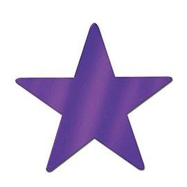 Cutouts-Star-Mini-Magenta-12pkg-Foil-3.5''