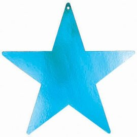 Cutouts-Star-Mini-Turquoise-12pkg-Foil-3.5''